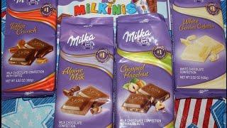 Milka: Toffee Crunch, Milkinis, Alpine Milk, Chopped Hazelnut, White Chocolate Confection Review