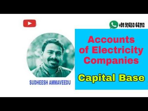 Capital Base.... electricity company Third semester B.Com  calicut university