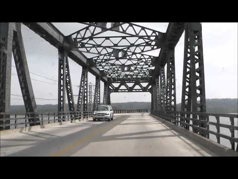 Driving Over the Fort Madison BNSF Toll Bridge