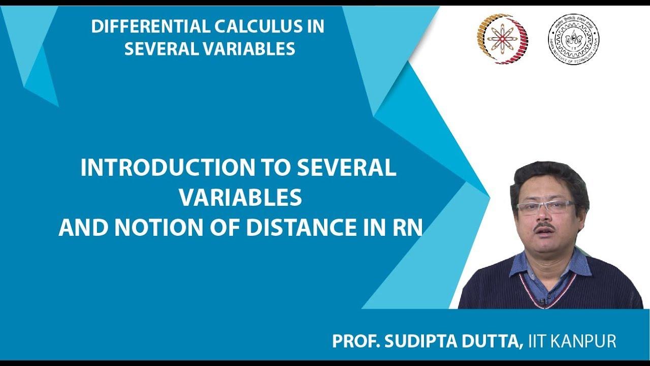NPTEL :: Mathematics - NOC:Differential Calculus in Several