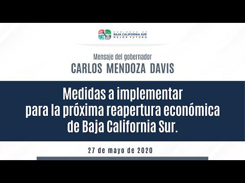 Medidas a implementar para la próxima reapertura económica de Baja California Sur.