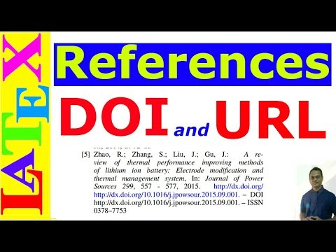 Add DOI and URL in The References (Latex Advanced Tutorial - 15)