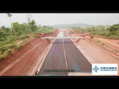 Vidéo du projet de l'autoroute Yaoundé Nsimalen en date du 31 janvier 2018