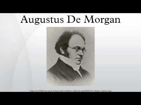 augustus de morgan contributions to math