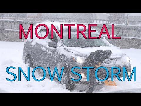 Montreal Snow Storm - January 13, 2018