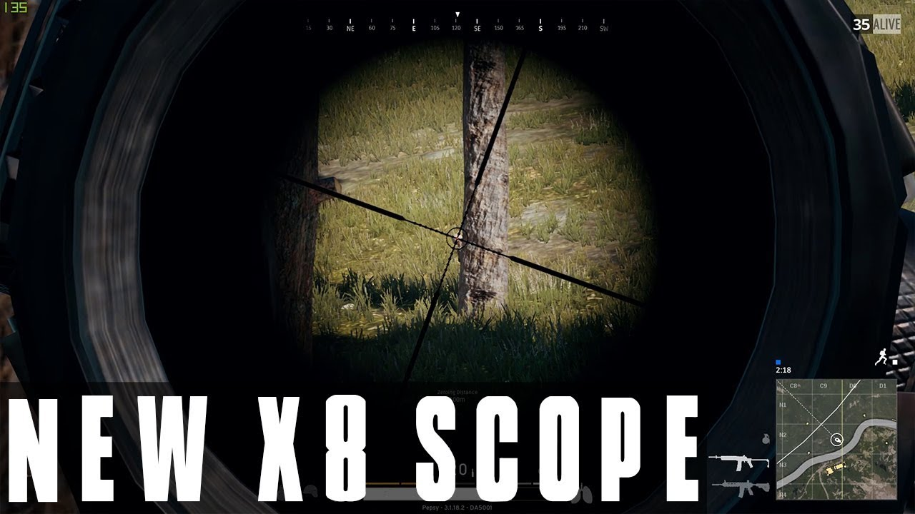 Pubg Zoom Scope Battlegrounds New X8 Crosshair Scope Zoom