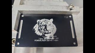 파워레이저 / 아노다이징처리된 알루미늄레이저마킹기(화이…