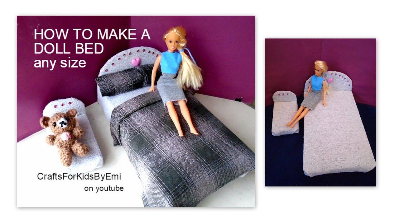 barbie seng HOW TO MAKE A DOLL BED, Barbie, Blythe, American Girl, 1/12TH  barbie seng