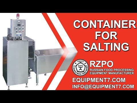 Container For Salting - Cold Salting - Cold Brine Container | Fish Processing Equipment