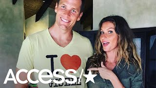 Tom Brady Honors His Wife With Sweet & Hilarious 'I Heart Gisele' Shirt   Access