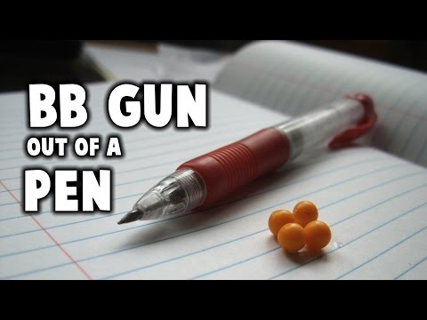 How To Make A BB Gun Out Of A Pen! Easy!