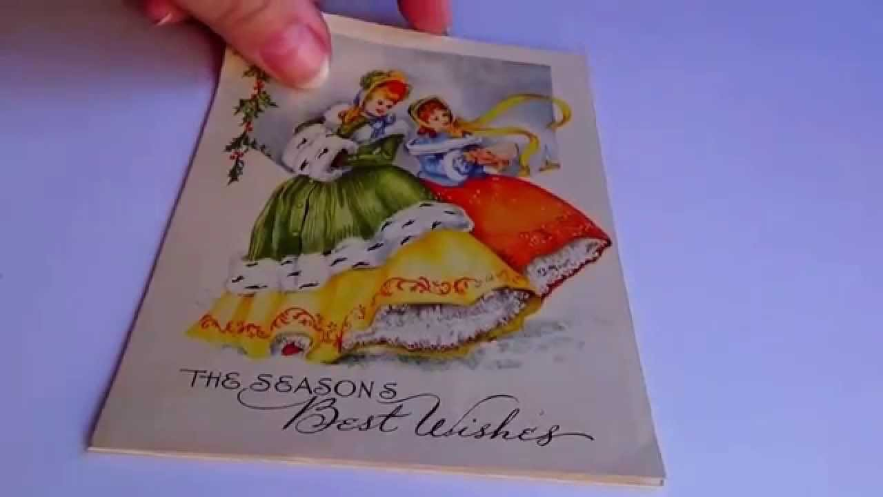 Old Christmas Card/Postcards & Postage Stamps - YouTube
