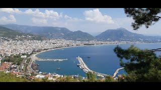 Отель Турции Utopia World Турция Каргыджак едем в город Аланья Фуникулер в Аланье часть 7