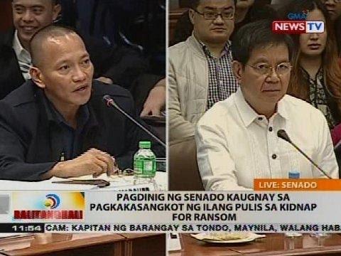 Pagdinig ng Senado kaugnay sa pagkakasangkot ng ilang pulis sa kidnap for ransom