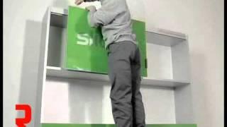 Richelieu Hardware - Slide Over Door System for Upper Cabinet: Assembly