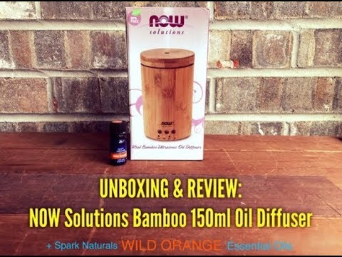 unboxing-&-review:-now-solutions-150ml-bamboo-oil-diffuser- -spark-naturals-essential-oil