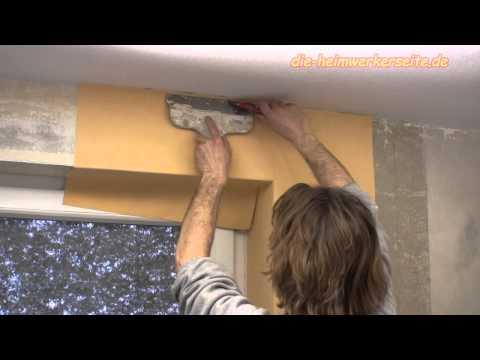 Fensterlaibung tapezieren - Vliestapete Teil 2