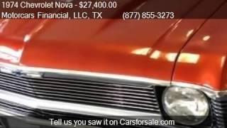 1974 Chevrolet Nova  for sale in Headquarters in Plano, TX 7