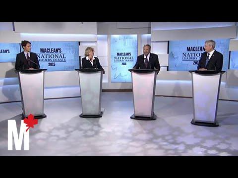 Mulcair chides Harper's economic record: Maclean's debate
