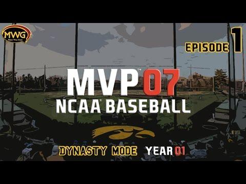 MWG -- MVP 07 NCAA Baseball -- Dynasty Mode, Episode 1