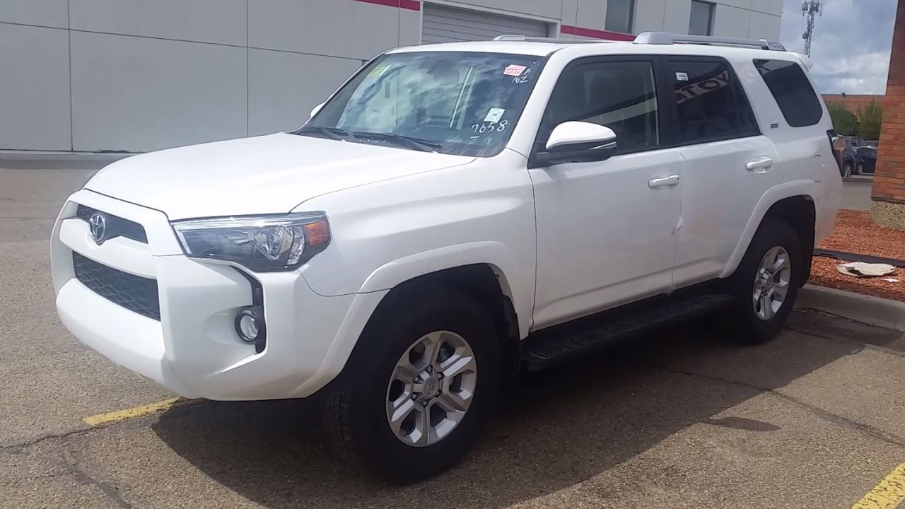 2017 Toyota 4runner Sr5 Premium In Alpine White Review Walk Around And Drive