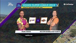 Highlights | Paarl Rocks vs Nelson Mandela Bay Giants | Match 28 | MSL 2019