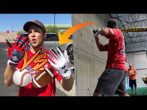 What Happens if You Use FOOTBALL Gloves In the Cages Instead of BASEBALL Gloves?