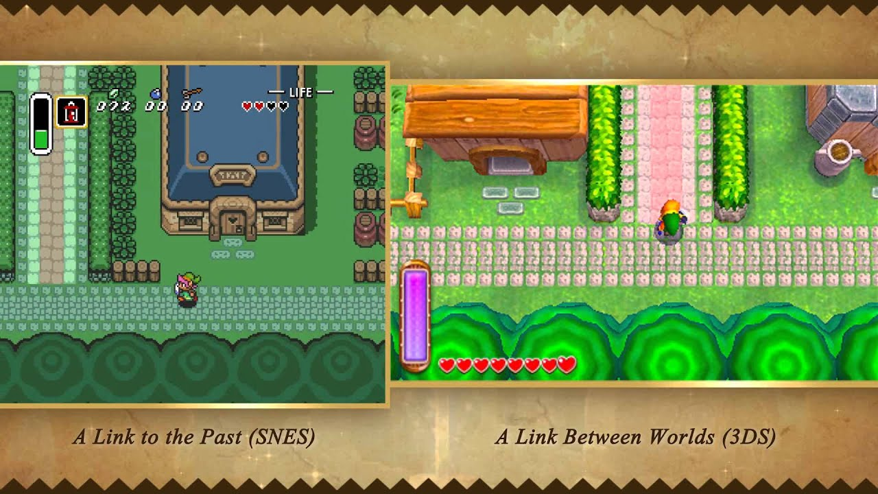 Video Comparison - A Link Between Worlds vs. A Link to the Past ...