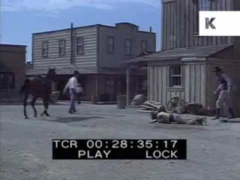 1960s Western, Two Cowboys Fist Fight