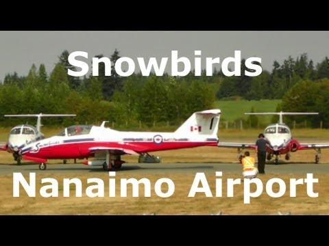Snowbirds  Leaving Nanaimo Airport Vancouver Island Canada