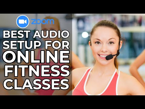 Online Fitness Class Audio Equipment Setup For Perfect Sync in Zoom