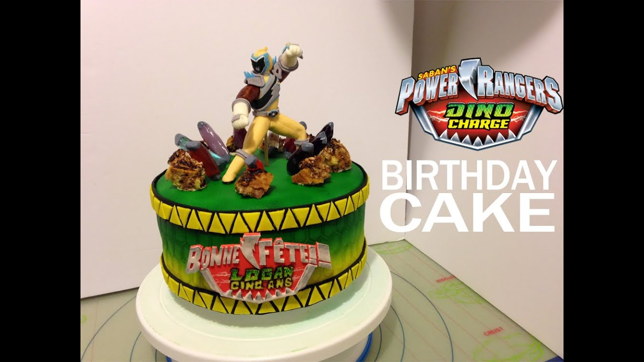 Power Rangers Dino Charge Personalized Birthday Cake Idea And