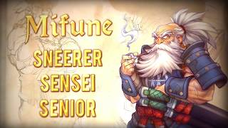 Mifune - sneerer, samurai, senior