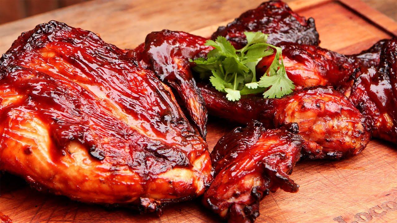 Pollo agridulce ahumado receta de locos x el asado youtube for Cocinar un pollo entero