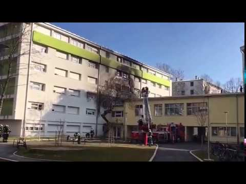 Fire in student dorms in Zagreb