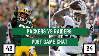 Packers vs. Oakland Raiders Week 7 | PackersNews Postgame Chat