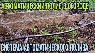 Автоматический полив огорода! Забыли про лейку!