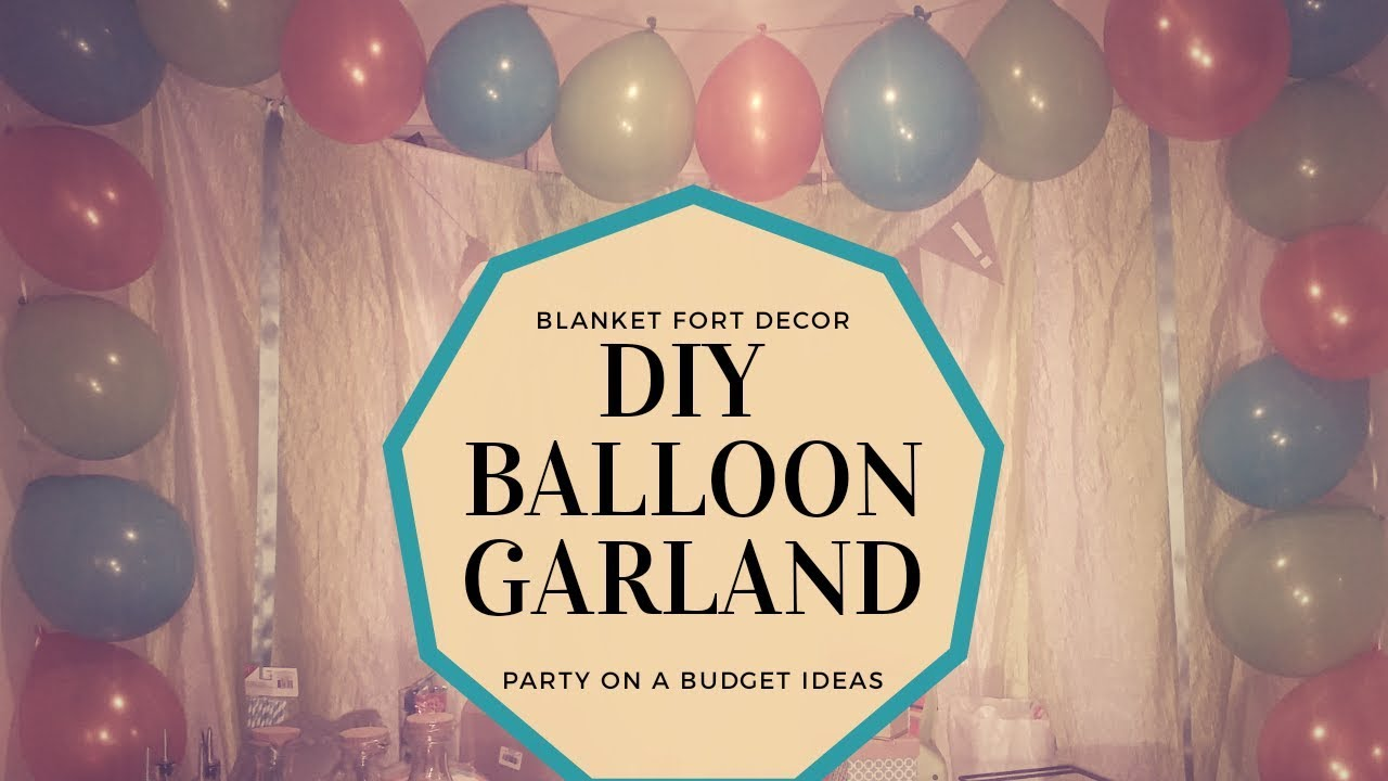 Party on a Budget: DIY Balloon Garland - YouTube