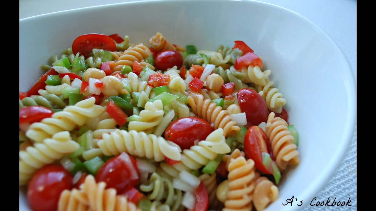 Simple Pasta Salad Recipe Youtube