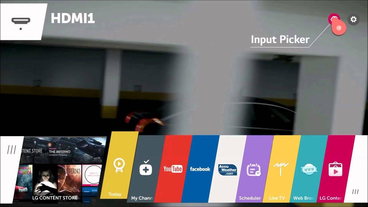 LG webOS Smart TV : Input Assist