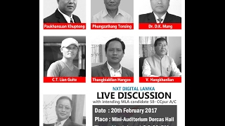 Live Discussion with MLA Candidates of 58 Churachandpur AC  [HD]