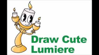 How to Draw Lumiere from Beauty and the Beast Easy Step by Step Drawing Cute Chibi
