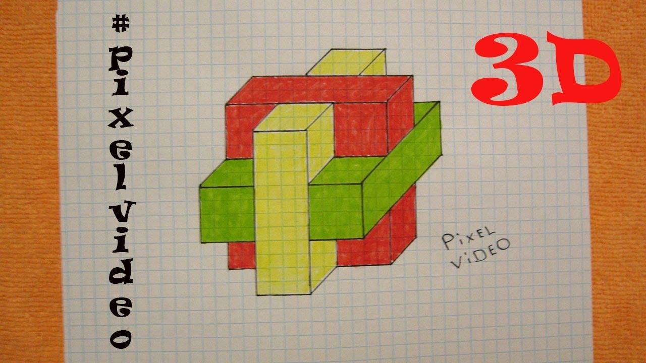 [ Pixel Art ] РИСУНКИ ПО КЛЕТОЧКАМ / 3D КРЕСТ ОБЪЕМНЫЙ ...