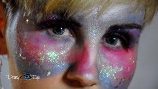 Soczewki kolorowe PartyEye Crazy - Spirala czarna / Color Contact Lenses