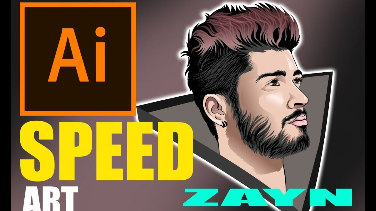 ZAYN-Speed Art-vector art-vexel art-Adobe Illustrator-drawing painting art