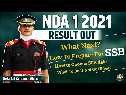 NDA-1 2021 Written Exam Result Out | How to choose SSB Date | How to prepare for NDA SSB Interview