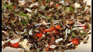 Юлия Высоцкая — Салат из черного риса с крабами