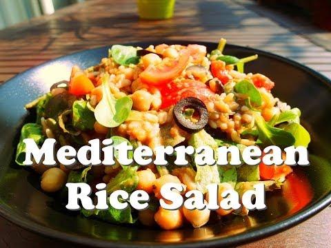 Mediterranean Rice Salad (Vegan)