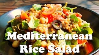 Mediterranean Rice Salad (vegan)