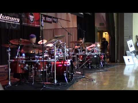 Virgil Donati, Thomas Lang Drum Duet At Hollywood Drum Show 2017